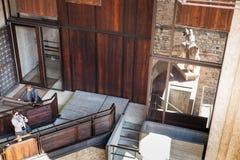Turyści w muzeum castelvecchio kasztel Obraz Stock