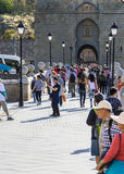 Turyści w Toledo Zdjęcia Royalty Free