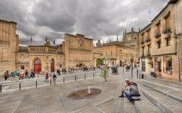 Turyści w Toledo, Hiszpania Zdjęcia Stock