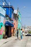 Turyści w Valparaiso Fotografia Stock