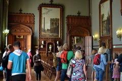 Turyści w Vorontsovsky kasztelu zdjęcie royalty free