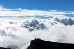 Turyści na Etna górze Zdjęcie Stock