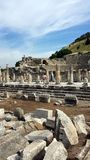Turyści odwiedza antycznego miasto Ephesus, Turcja Fotografia Stock