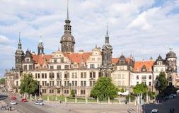 Turyści przy Drezdeńskim kasztelem Obraz Royalty Free