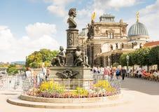 Turyści w Drezdeńskim Zdjęcia Stock