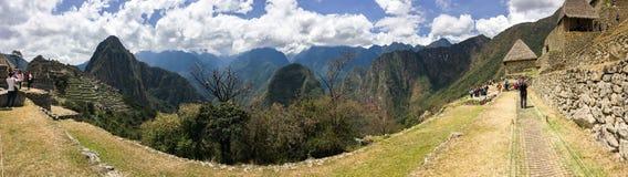 Turyści w Mach Picchu Fotografia Royalty Free