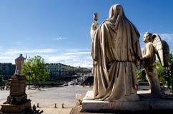 Turyn, Granu Madre statua trzyma chalice zdjęcie stock