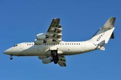 TURYN - Listopad 07, 2015 - cityjet samolotu EI-RJN przyjeżdżać Fotografia Stock