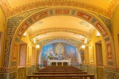 Turyn - mała kaplica Capella Pinardi - pierwszy kaplica Don Bosco założyciel Salesians Fotografia Stock