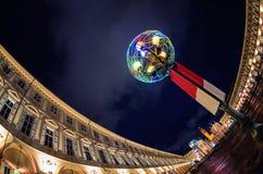 Turyn, piazza San Carlo Włochy Obraz Royalty Free