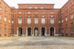 Turyn, Podgórski, Włochy, 06 2017 Wrzesień Wewnętrzna fasada Pa Obraz Royalty Free