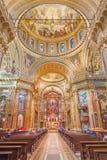 TURYN WŁOCHY, MARZEC, - 15, 2017: Nave barok kościelna bazylika Maria Ausiliatrice Obrazy Stock