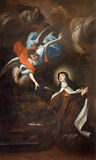TURYN WŁOCHY, MARZEC, - 13, 2017: Obraz Trasverberazione mistycznego doświadczenia Di Santa Teresa d'Avila 1640 Obrazy Stock