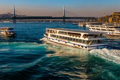 Turyol, the largest private ferry operator in Turkey, near Halic, Istanbul royalty free stock photography