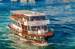 Turyol, the largest private ferry operator in Turkey, near Halic, Istanbul royalty free stock photos