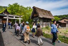 Turystów odwiedzać Iść Zdjęcia Royalty Free