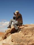 turysta desert Zdjęcia Stock