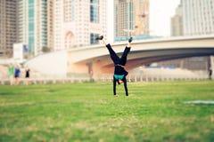 Turysta Dubaj Ma zabawę Zdjęcie Royalty Free