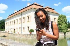 Turysta na renaissance pałac Kratochvile Fotografia Stock