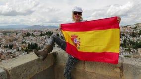 Turysta przy Alhambra Granada zdjęcie wideo