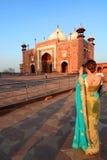 Turysta przy Jawab taj mahal Agra, Uttar Pradesh indu Zdjęcie Stock