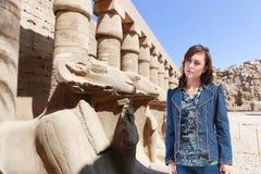 Turysta przy Luxor, Egipt - obrazy stock