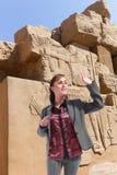 Turysta przy Luxor, Egipt - fotografia stock
