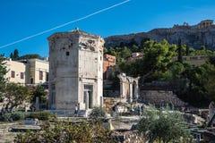 Turysta przy Romańskim agory miejscem, Ateny, Grecja obraz royalty free
