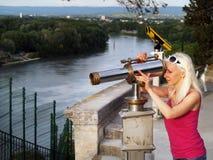 Turysta w Avignon, Francja Obraz Stock
