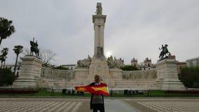Turysta w Cadiz Hiszpania zbiory