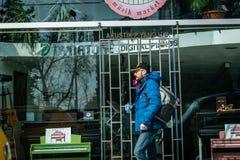Turysta w Istanbuł, Turcja Zdjęcia Stock