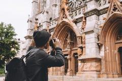 Turysta w mieście Fotografia Stock