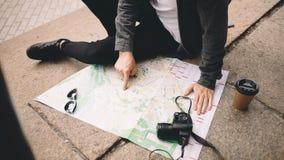 Turysta w mieście Zdjęcia Stock