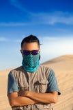 Turysta w pustyni zdjęcie stock
