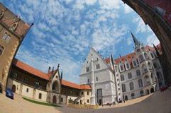 Turysta wizyty Albrechtsburg kasztel w Meissen, Niemcy Obraz Royalty Free