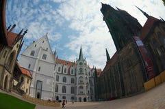 Turysta wizyty Albrechtsburg kasztel w Meissen, Niemcy Fotografia Stock
