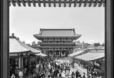 Turysta wizyty Sensoji świątynia Zdjęcie Stock