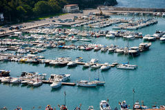 Turysty port Zdjęcie Royalty Free