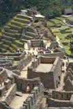 Turysty spacer w Machu Picchu miejscu Zdjęcie Royalty Free