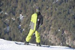 Turysty wakacje w ośrodku narciarskim Bansko Bułgaria Obraz Stock