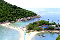 Turystyczna plaża Zdjęcia Royalty Free