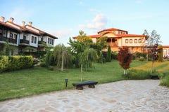 Turystyczna Powikłana górska chata Rubaiyat, Bułgaria Fotografia Stock