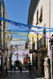 Ulica w Tossa De Mącący, Catalonia, Hiszpania Obraz Stock
