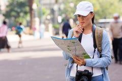 Turystyczna uliczna mapa Fotografia Royalty Free