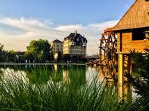 Turystyczna wioska w Europa Wschodnia fotografia royalty free
