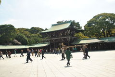 Turystyczna wizyty Meiji Jingu świątynia Obrazy Stock