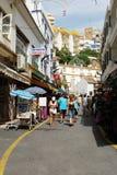 Turystyczna zakupy ulica, Torremolinos Obrazy Stock
