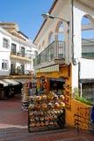 Turystyczna zakupy ulica, Torremolinos Zdjęcie Royalty Free