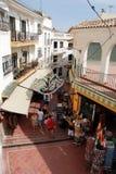 Turystyczna zakupy ulica, Torremolinos Fotografia Stock