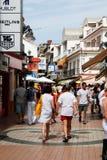 Turystyczna zakupy ulica, Torremolinos Zdjęcie Stock